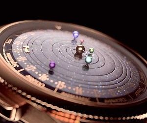 Moving Planetarium Watch, so expensive but amazing
