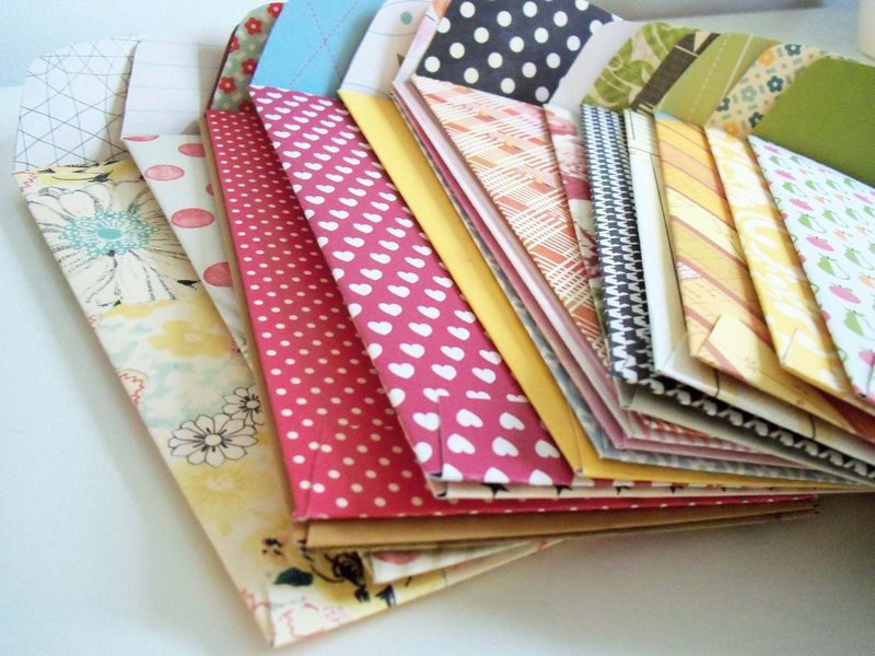 How to make homemade envelopes from A Pocketful of Licorice blog