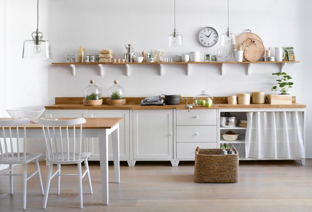Cuisine en bois et laqué blanc AmPm - La Redoute A u t u m n