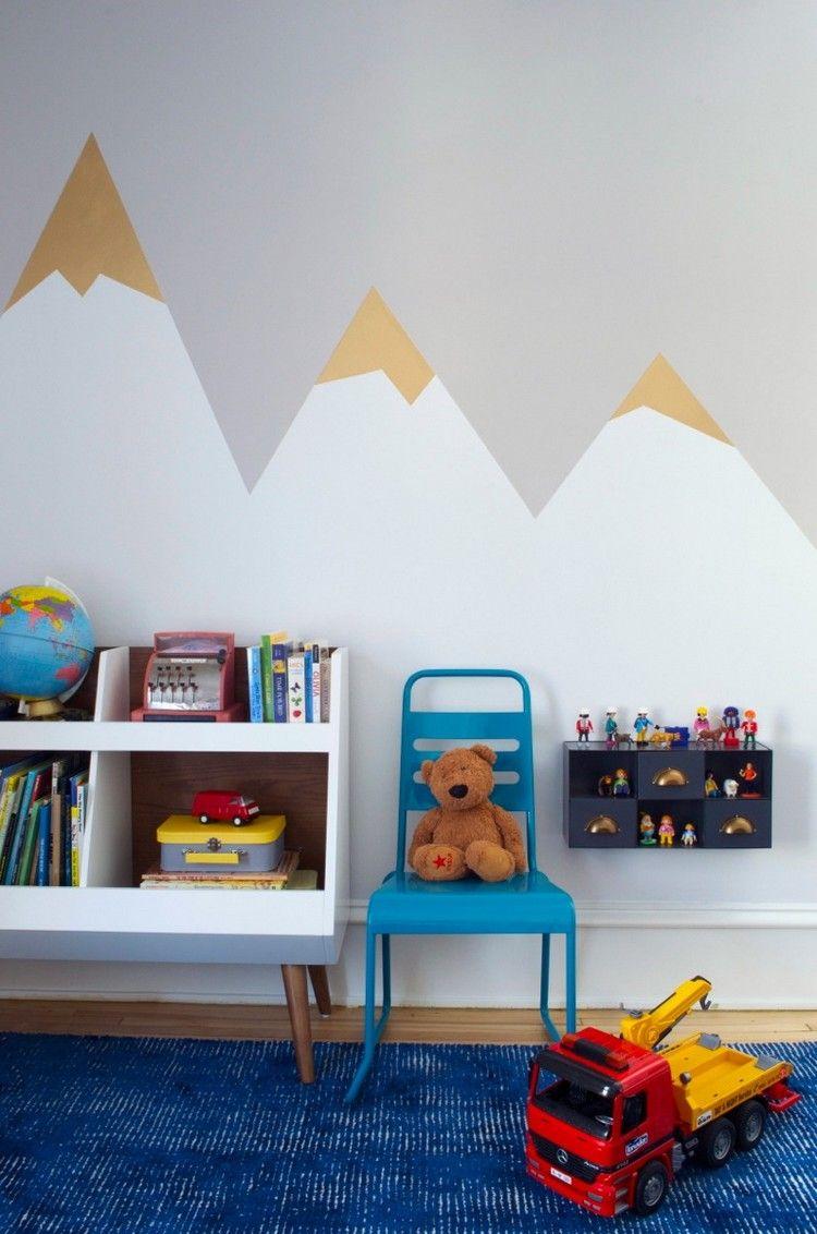 #Dekoration Ideen Für Wandgestaltung Mit Farbe U2013 Wandgemälde Von Bergen  Selber Machen #Ideen #