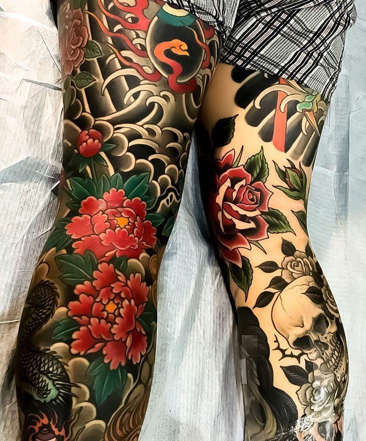 Japanese Inspiration Inkstinct Japanese Leg Tattoo Tattoos For Guys Traditional Tattoo Leg Sleeve