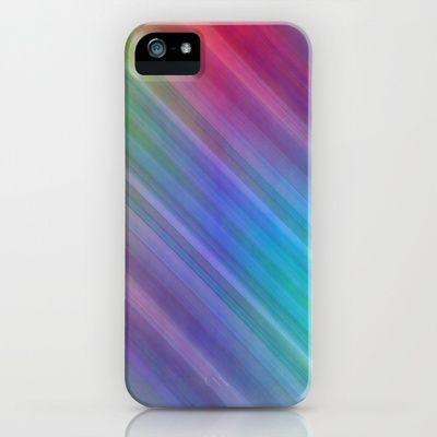 Multicolored lines no. 4 iPhone & iPod Case by Christine baessler - $35.00