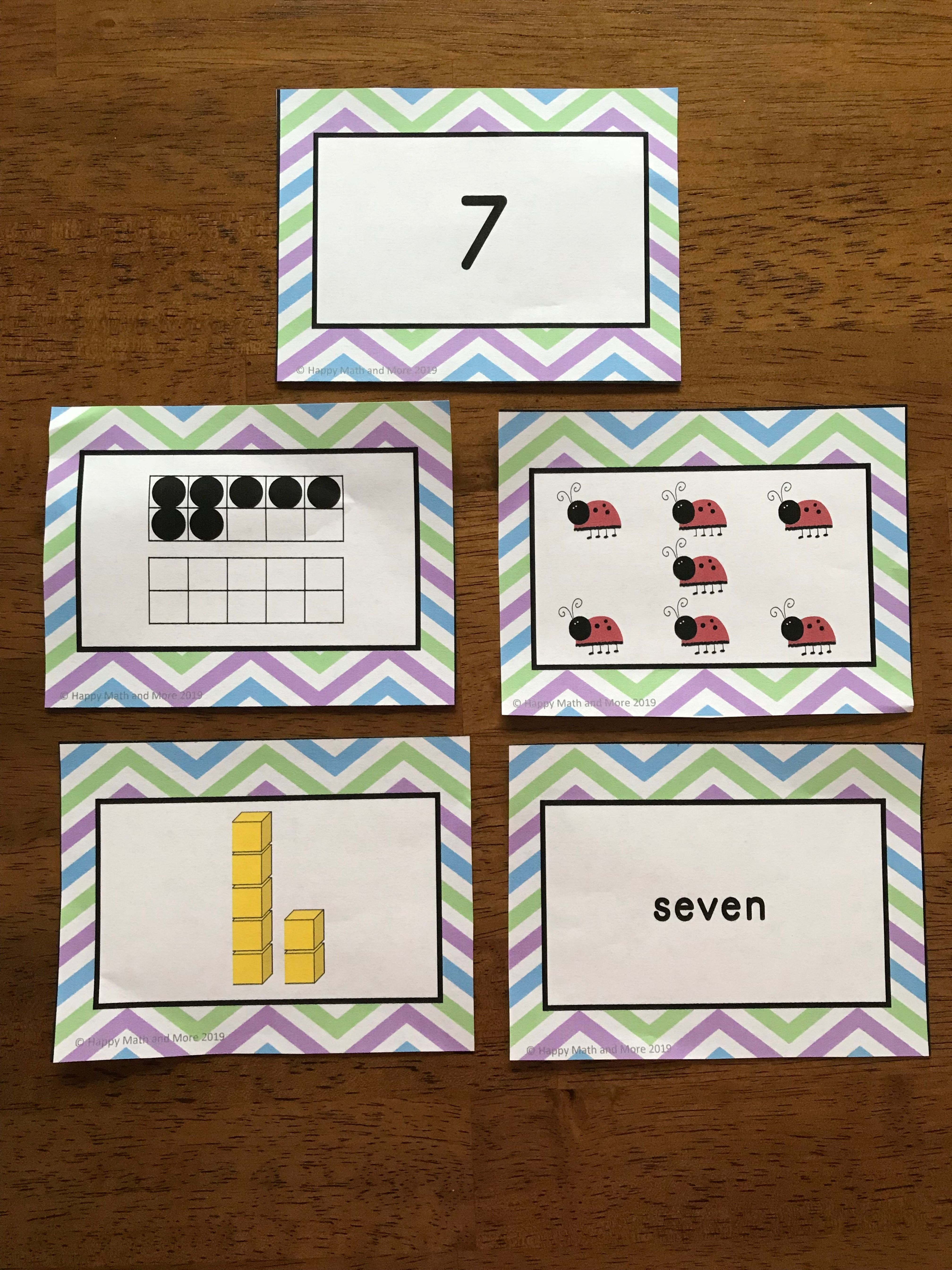 Spring Number Cards 1 To 20 Math Centers Spring Math Spring