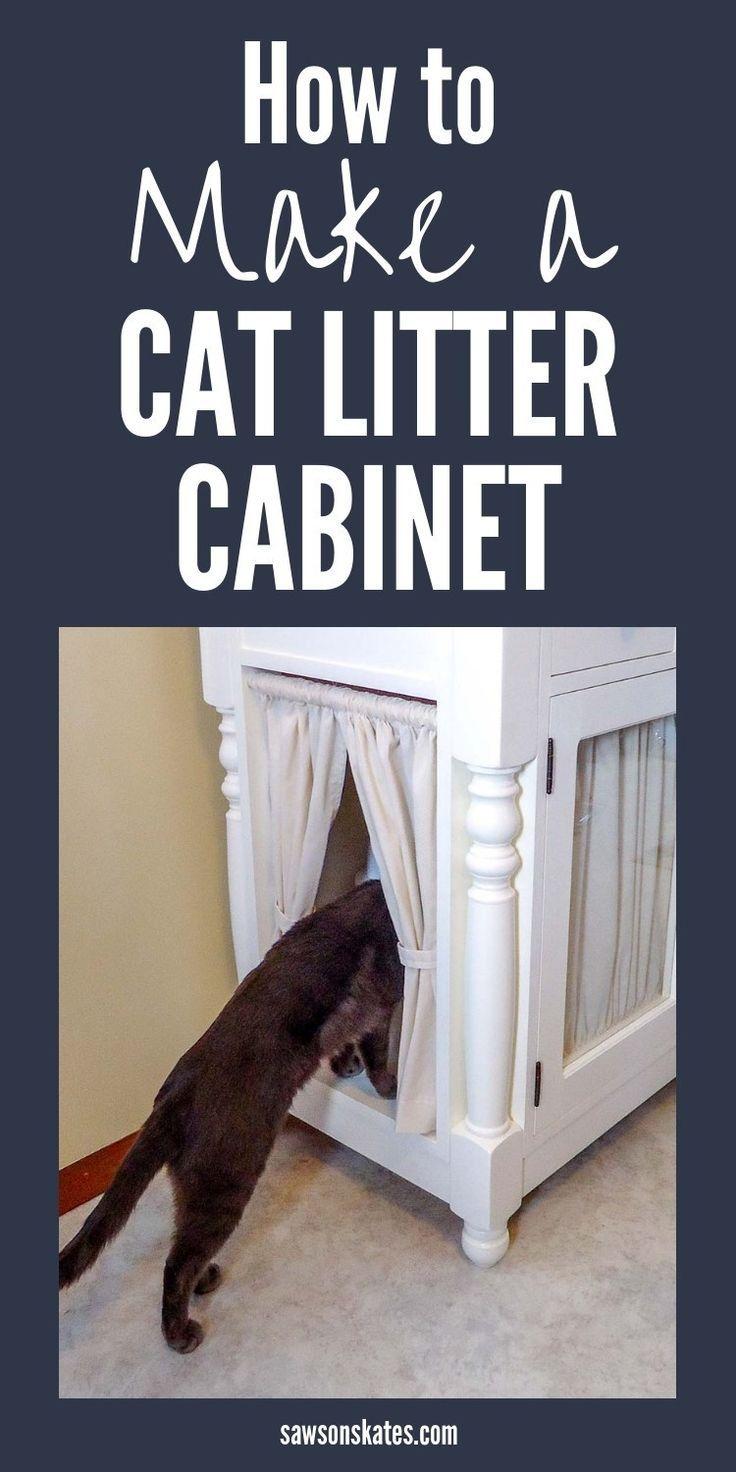 Diy hidden litter box cat litter box diy diy