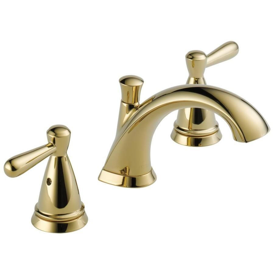 Delta Bayside Polished Brass 2 Handle Widespread Watersense