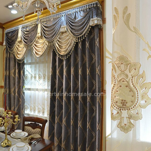 Thick Chenille Fabric Bedroom Curtain in Victorian Curtain Not ...