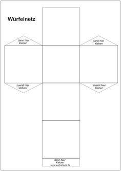 Würfel und Quader basteln | Mathematik | Pinterest | Würfel ...