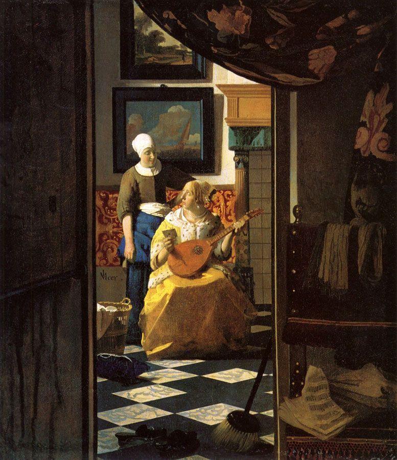 la lettre d\\'amour La lettre d'amour/Vermeer | Art | Pinterest | Johannes vermeer and  la lettre d\\'amour