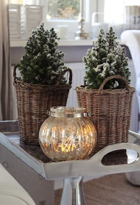 Mercury Glass And Christmas Pretty Ideeen Voor Huis Pinterest