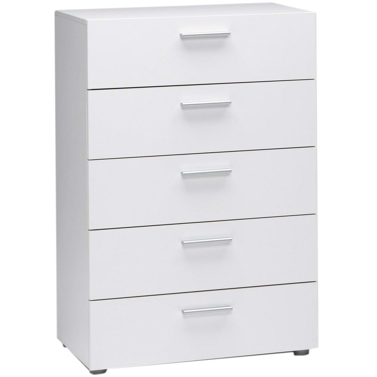 Contemporary 5 Drawer Bedroom Storage Dresser Chest In White With Images Chest Of Drawers Bedroom Furniture Stores Drawers