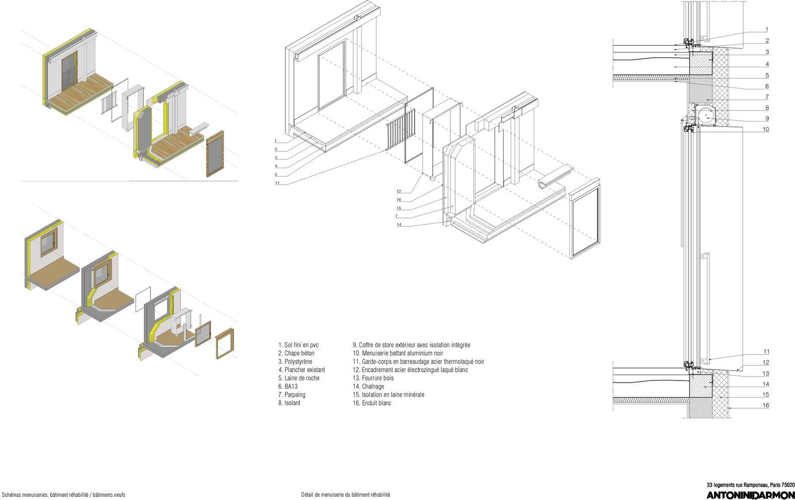 Gallery of 33 New and Rehabilitated Housing Units / Antonini + Darmon Architectes - 17