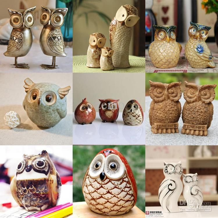 Wholesale Dhl Free Shipping Owl Character Home Decoration Item Gift Present Free Shipping 62 9