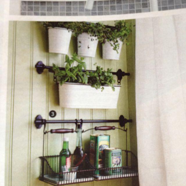 Kitchen Bench Herb Garden: Ikea Fintorp Rail Accessories For Indoor Herb Garden
