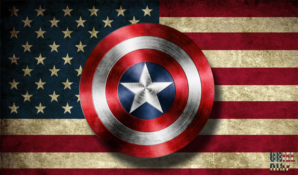 Captain America Shield With Flag by UDArtist3.deviantart.com on @deviantART