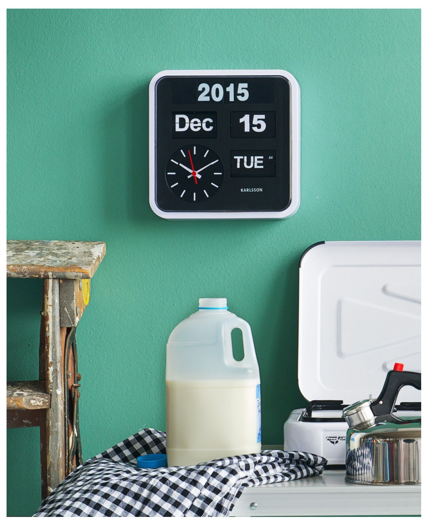 Big Flip Clock Karlsson Kalender Klok Big Flip Rand Wit Love It