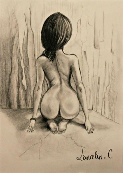 Femme Nue De Dos dessin nu femme corps crayon nus crayon - nu de dos | trop belle
