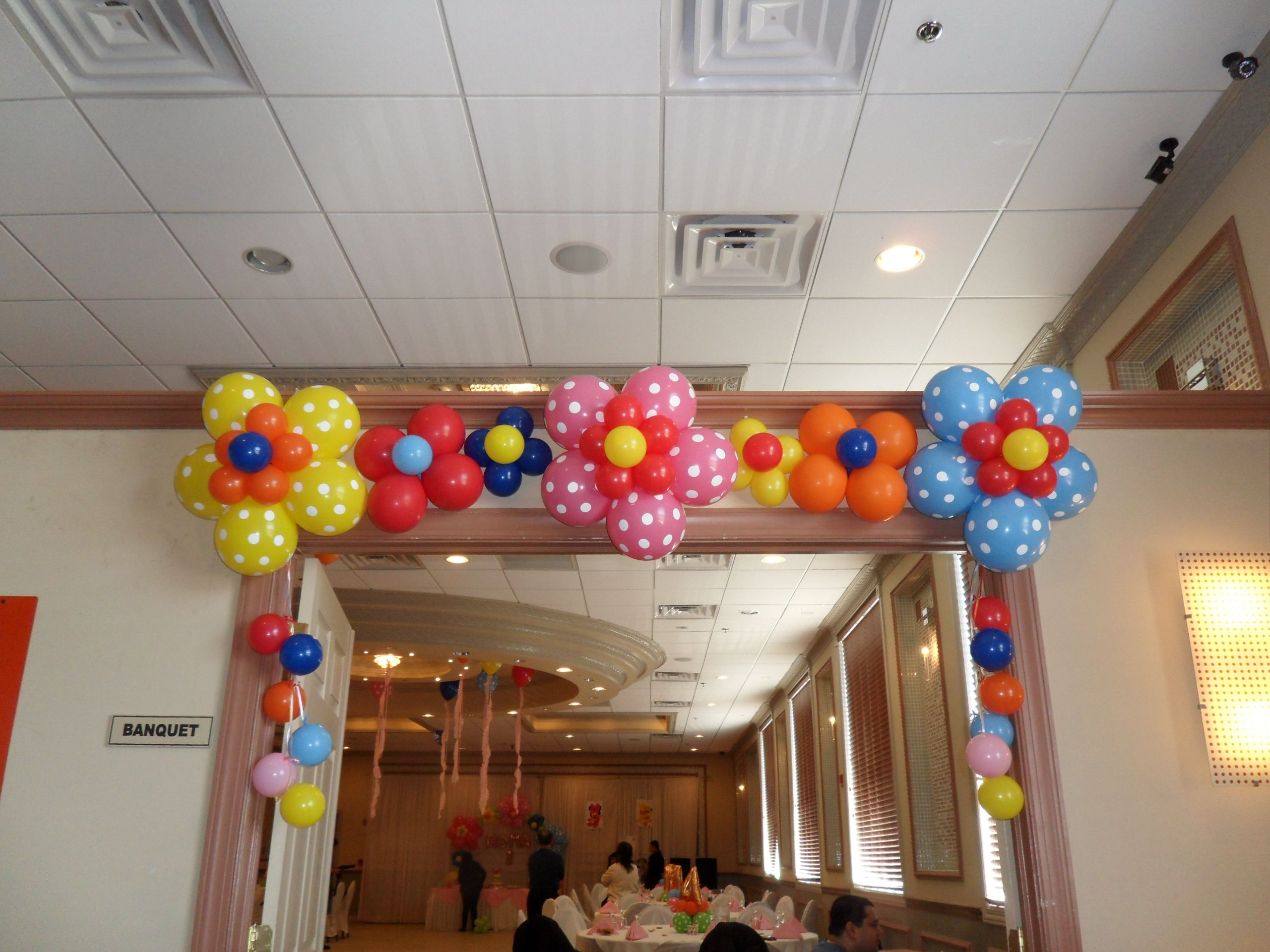 Diy Flower Balloons For Door Entrance Or Wall Party Decoration