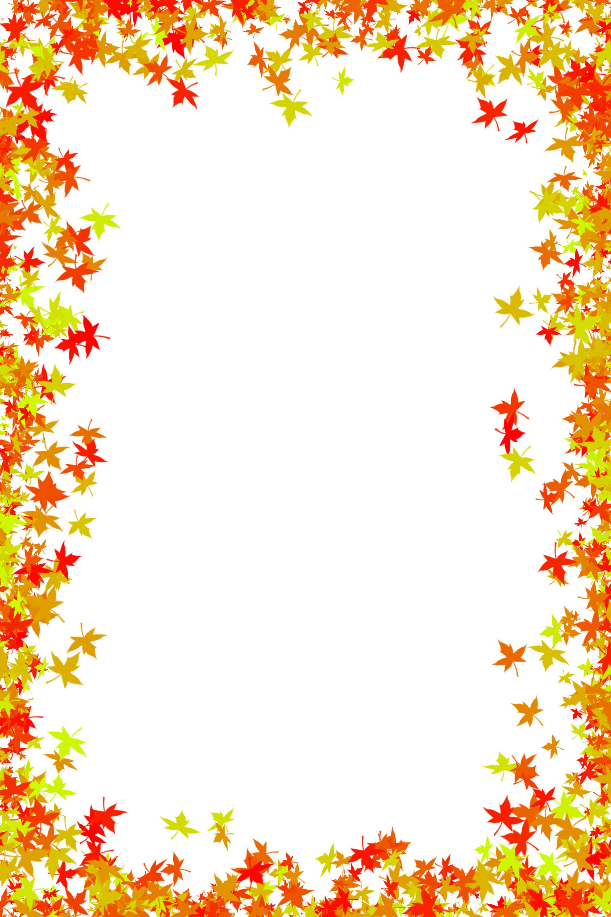 Printable Fall Leaves Border