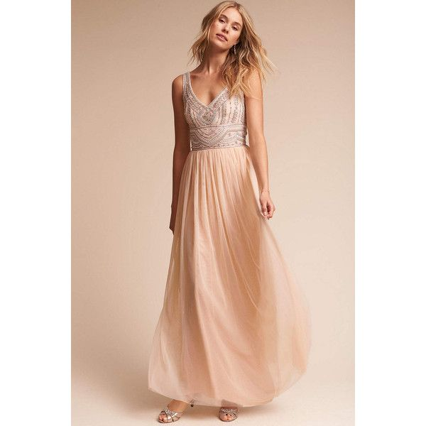 Anthropologie Sterling Wedding Guest Dress ($250) ❤ liked on ...