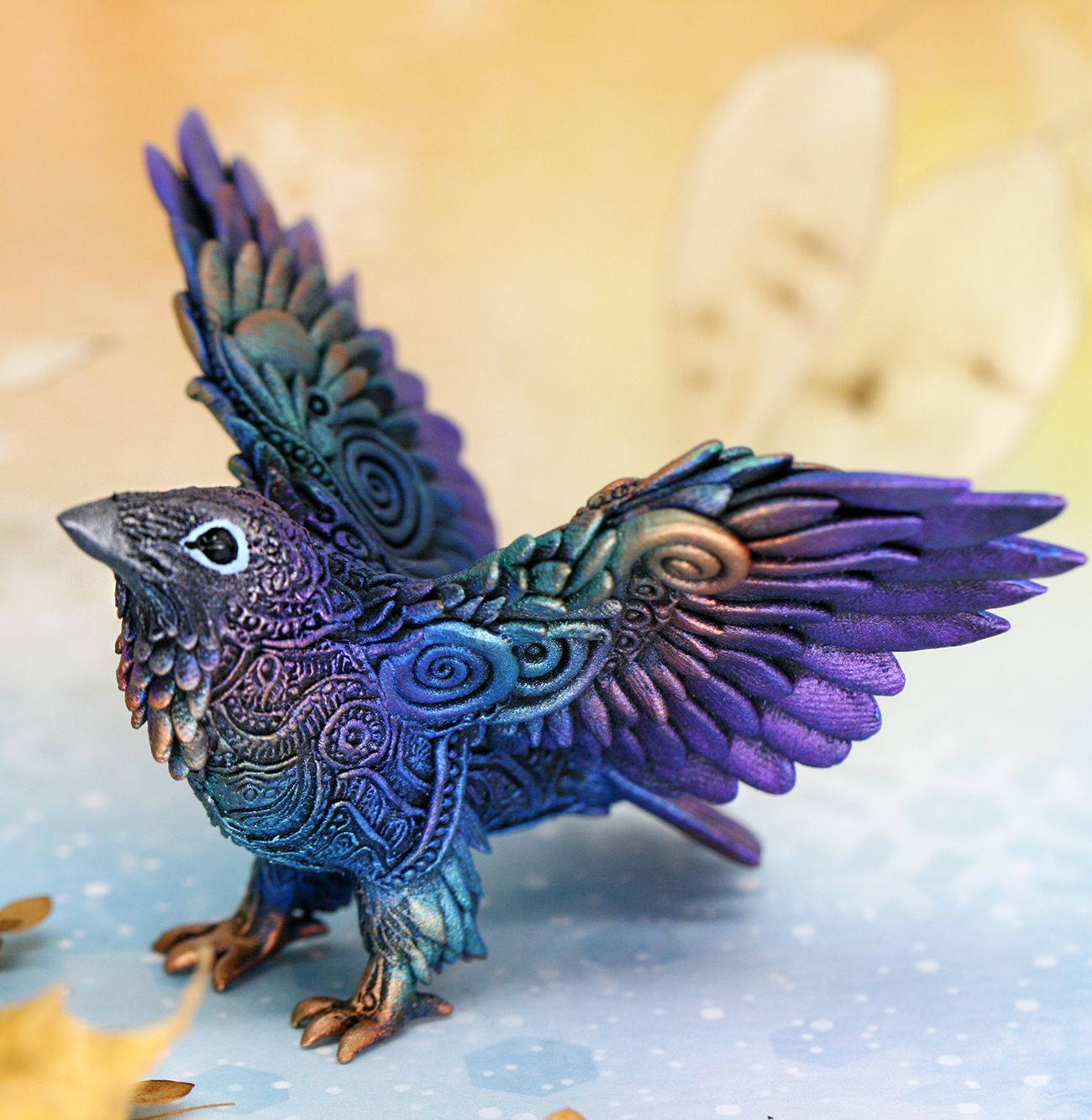 Download Raven Figurine for shelf and office table decoration by Evgeny Hontor 👆 in 2020   Animal ...