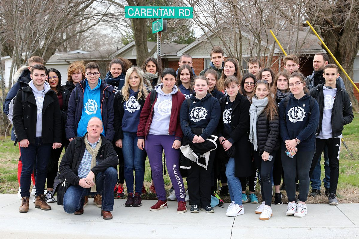 A Friendship born in War, Carentan students visit Fort