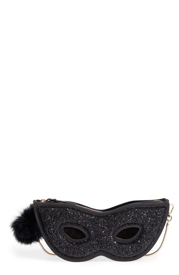 kate spade new york kate spade new york dress the part glitter mask clutch available at #Nordstrom