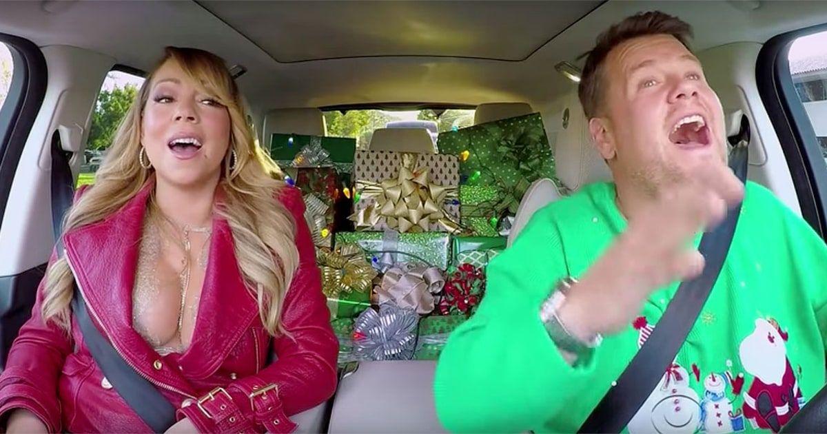 Watch Mariah Carey Adele Lady Gaga Sing All I Want For Christmas Carpool Karaoke Mariah Carey Christmas Carpool Karaoke