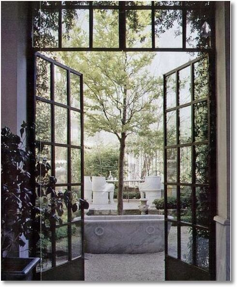 French Exterior Doors Steel: Black Metal Patio Doors With Bottom Panes Black