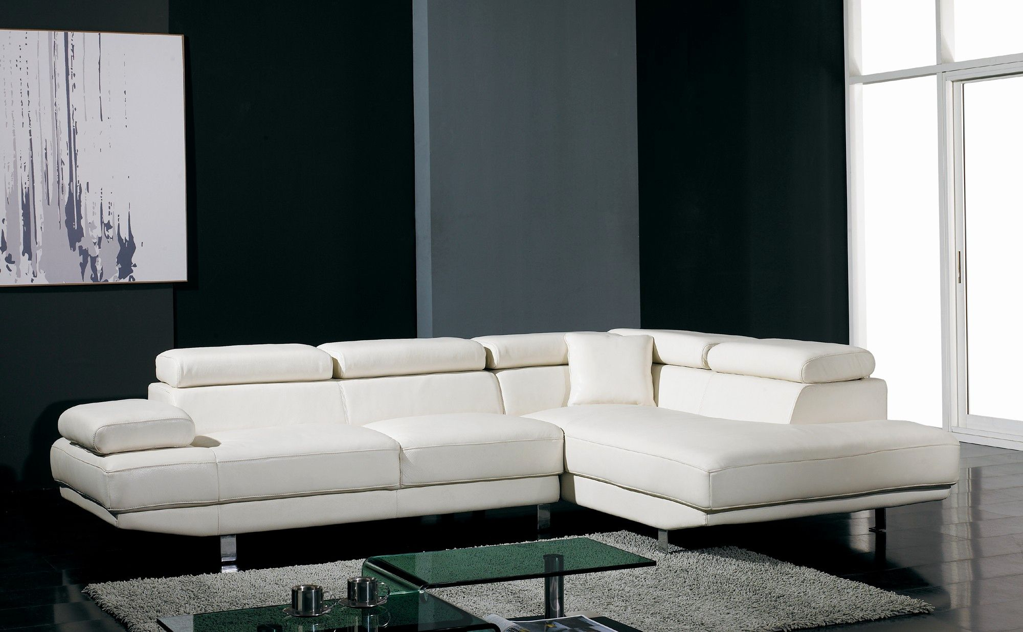 Awesome White Leather Contemporary Sofa Shot T60 Ultra Modern White Leather Sectional Modern Sofa Sectional White Sectional Sofa Modern Leather Sectional Sofas