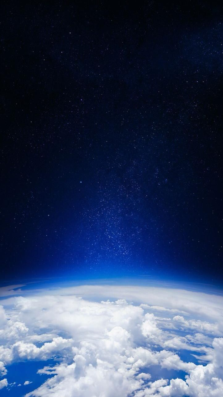 Earth Clouds from Space iPhone Wallpaper