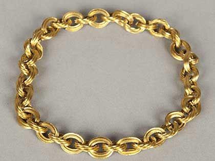 Cadena de oro. Recuperada del lugar del naufragio por un huracán (Cayos de Florida) del Nuestra Señora de Atocha 1622