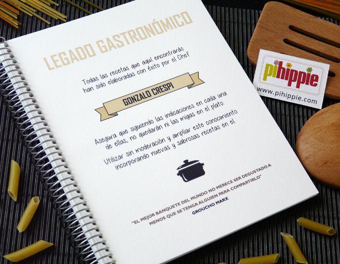 Cuaderno de recetas de cocina personalizado http://www.pihippie.com/p/blog-page_97.html