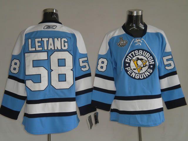 ... 32.00 nhl jerseys pittaburgh penguins kris letang 58 light blue 43ebe930c