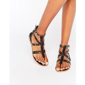 Faith flat gladiator brown sandals size 5