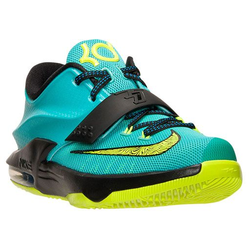 detailing b12e0 dbbb5 Kids  Grade School Nike KD 7 Basketball Shoes   Finish Line   Hyper  Jade Volt Black Photo Blue size 6 in men 8 in womens