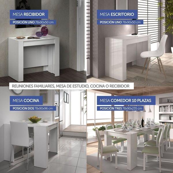 Mesa consola extensible Kendra | De casa | Pinterest | Salons ...