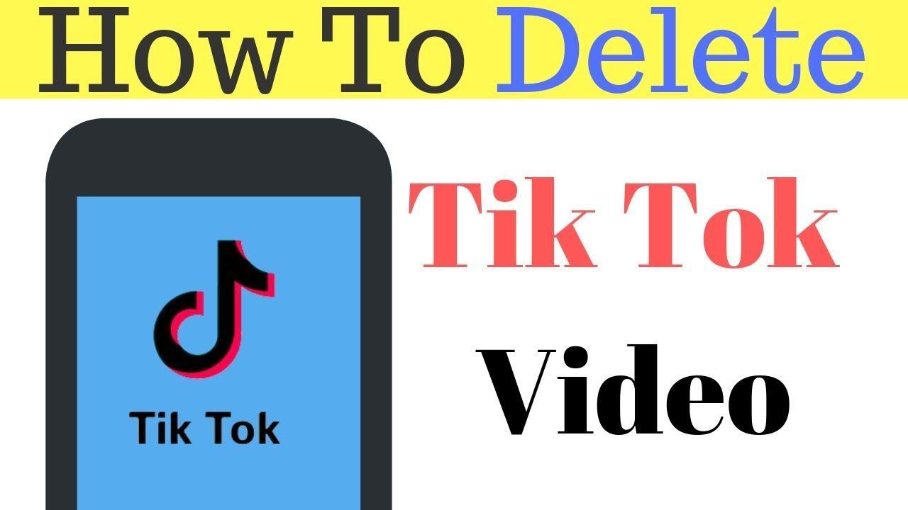 How To Delete Tik Tok Video After Tik Tok Ban In India 2019 Accounting Tik Tok Tok