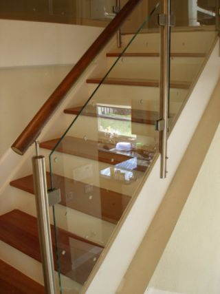 Glass Stairway Systems | ... | Stainless Steel Railings, Spiral Stairs And  Glass Stairs | ATD 80