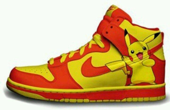 the latest afefd 62af8 Pikachu Nikes. Pikachu Nikes Yellow Nikes, Nike Sb Dunks ...