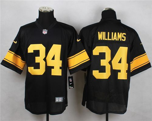 Nike Steelers  34 DeAngelo Williams Black(Gold No.) Men s Stitched NFL Elite 776a3abee