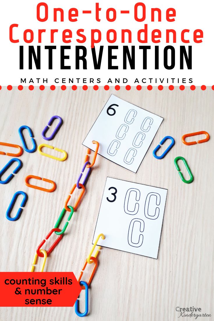 One To One Correspondence Intervention Activities For
