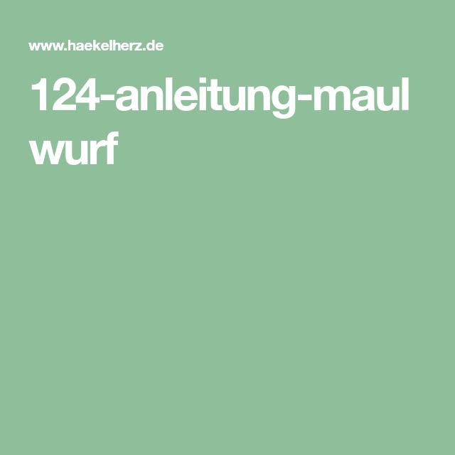 Häkelanleitung / Maulwurf - Baby | 640x640