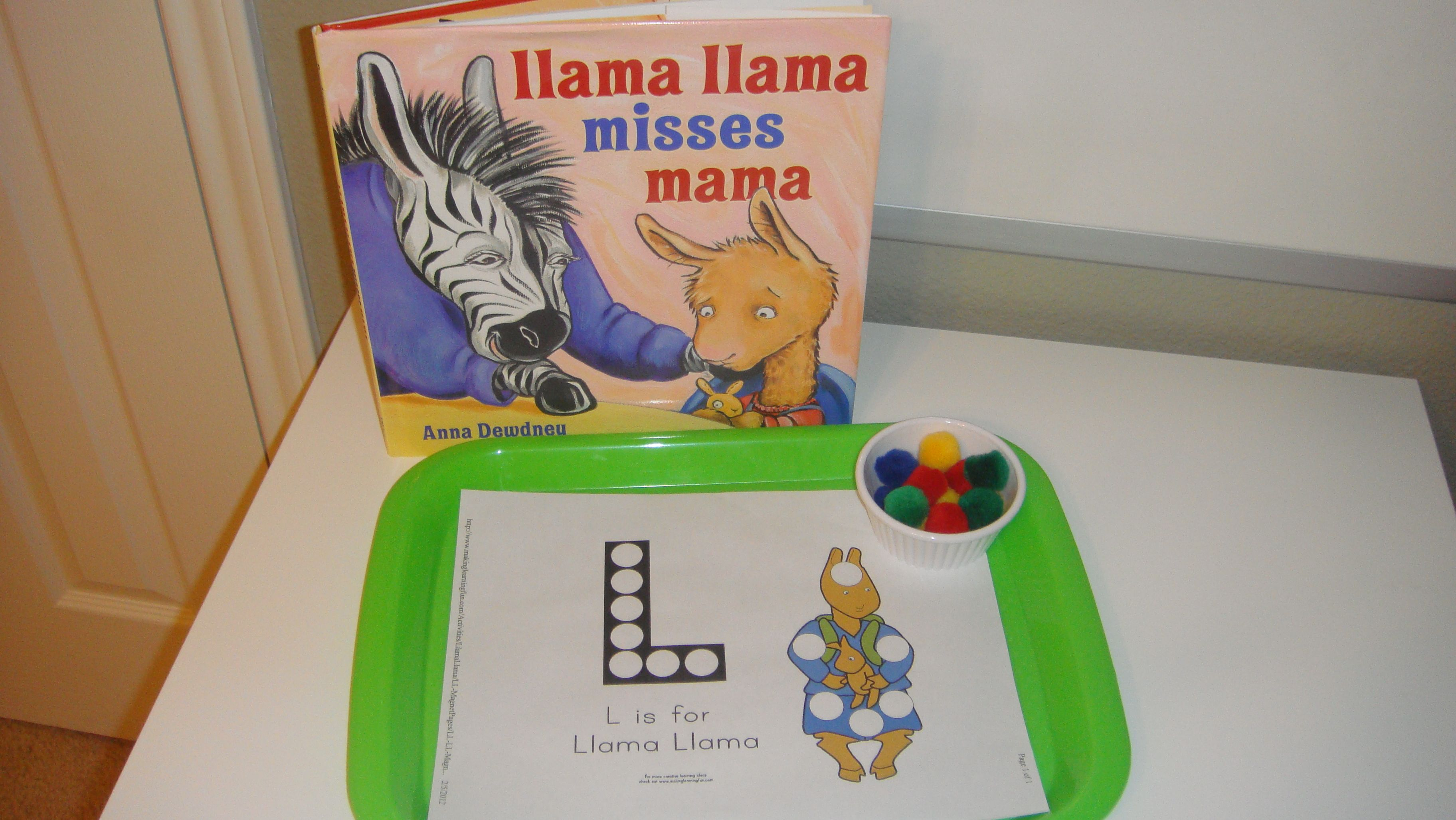 Toddler School Tray Llama Llama Misses Mama Pom Pom