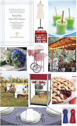 A Country Fair Wedding Theme