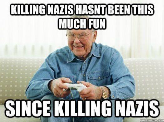 Funny Grandpa Nazi Game