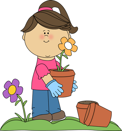 girl planting flowers choose the right pinterest planting rh pinterest com clipart planting trees planting clipart black and white
