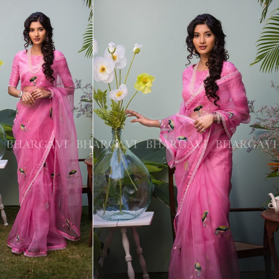 Spring Summer Collection Organza Sarees collection from Bhargavi ...