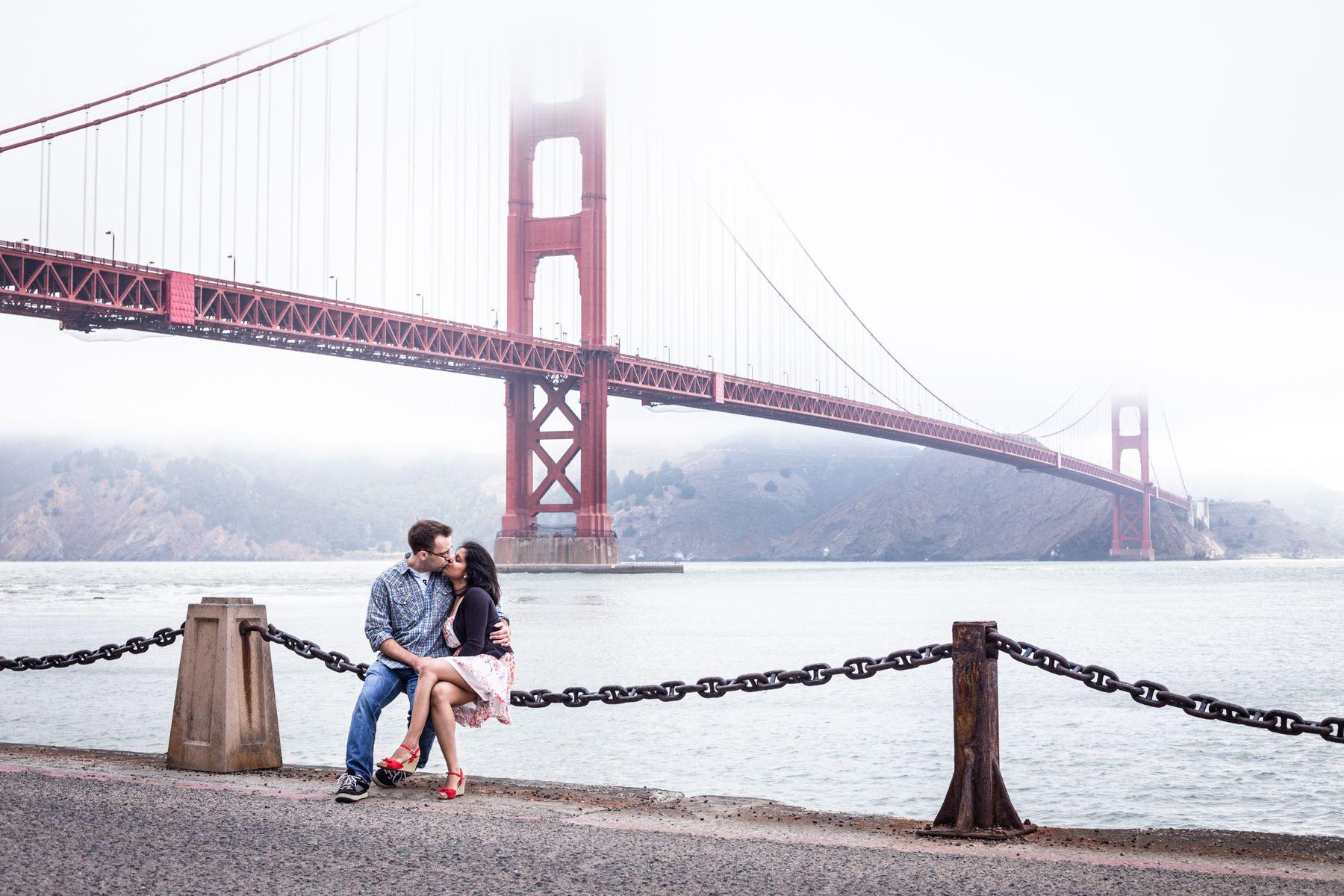 San Francisco Golden Gate Bridge Engagement Shoot