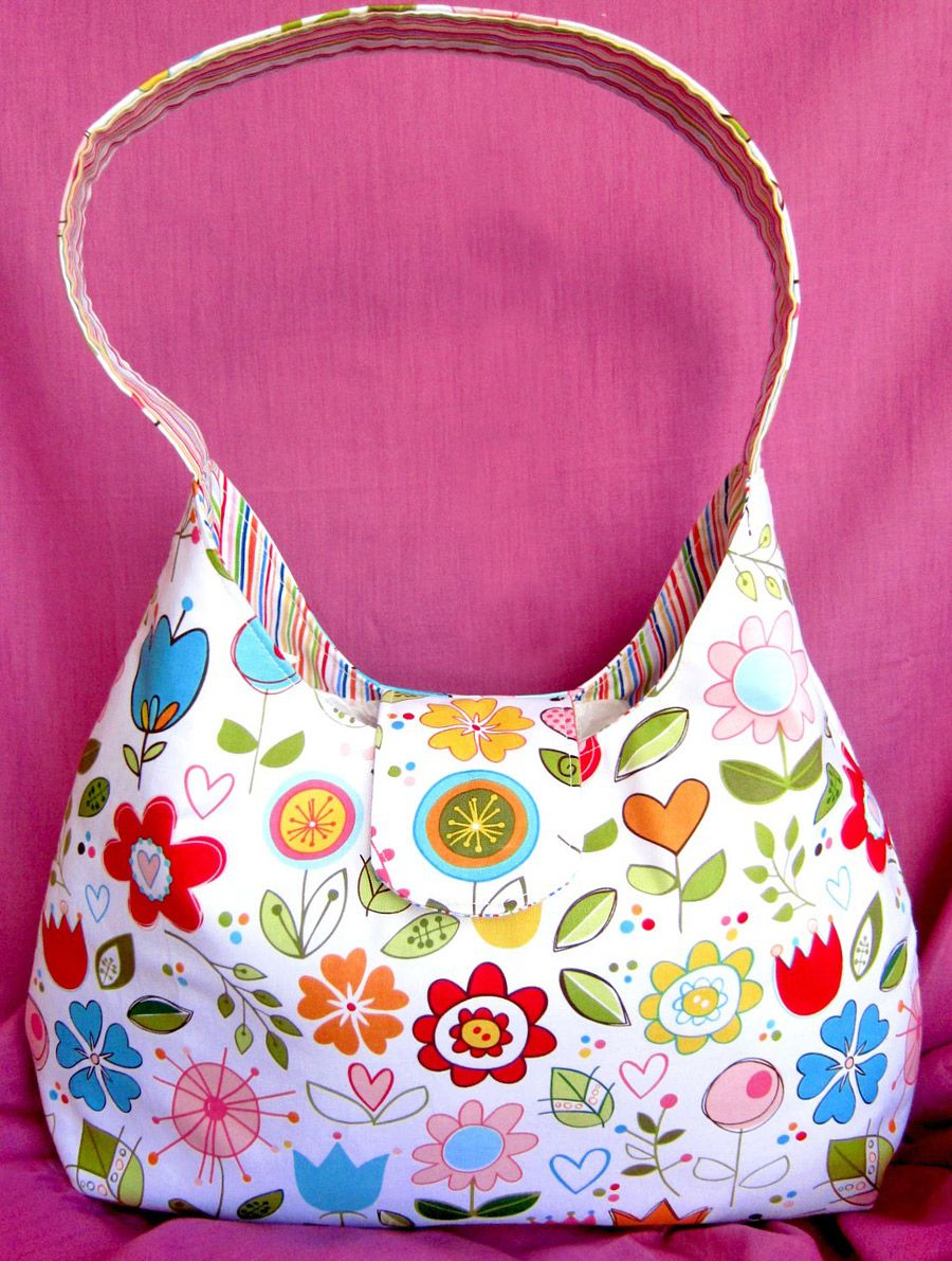 One Handle Bag Sew Tutorial & Pattern | Purses and Bags | Pinterest ...