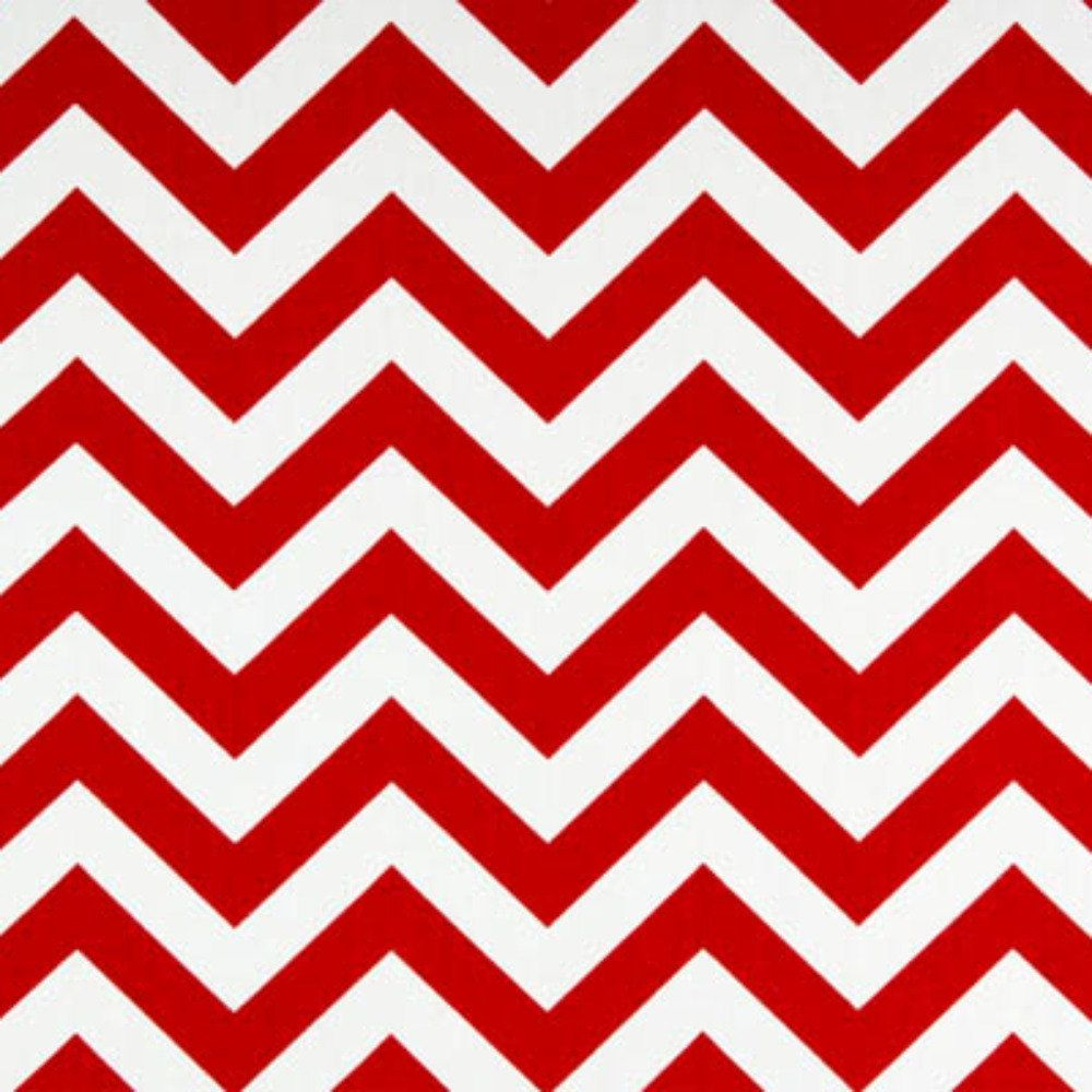 Premier Prints Fabric Zig Zag Chevron in Red and White Twill - By ...